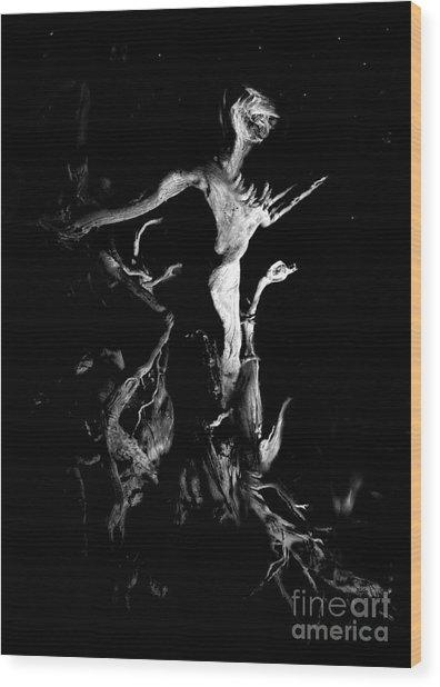 Woody Alien Wood Print by Petros Yiannakas