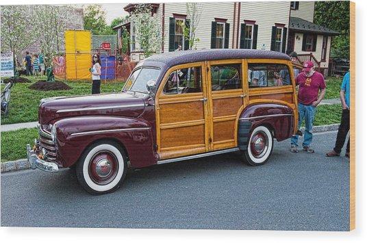 Woody Wagon Wood Print