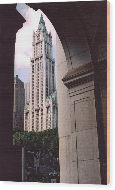 Woolworth Building Wood Print