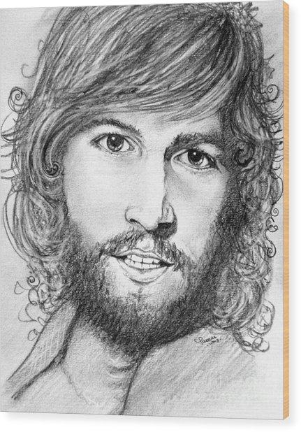 Barry Gibb  Wood Print