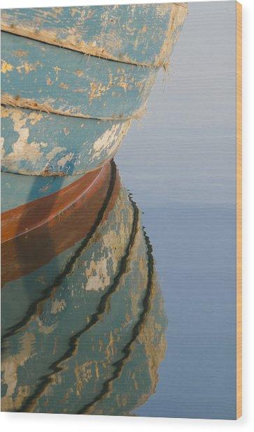 Work Boat Wood Print