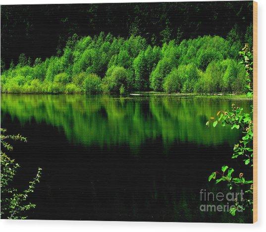 Work In Green Wood Print