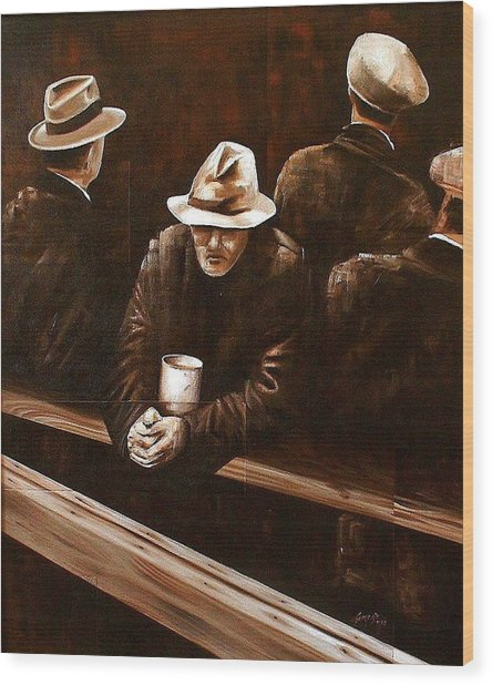 Working Class Wood Print by Laurend Doumba