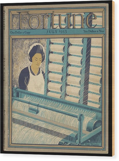 Working On A Cotton Loom          Date Wood Print by Mary Evans Picture Library