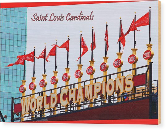 World Champions Flags Wood Print