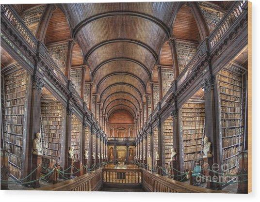 World Of Books Wood Print