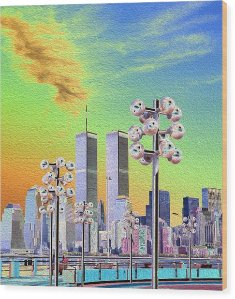 World Trade Center From Nj Terminal Wood Print