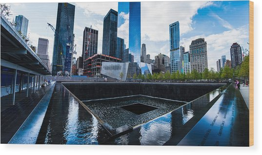 World Trade Center - North Memorial Pool Wood Print