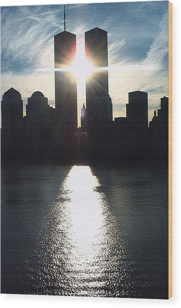 World Trade Center Towers Wood Print