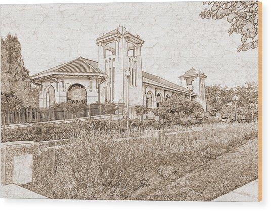 World's Fair Pavilion At Forest Park St Louis Wood Print