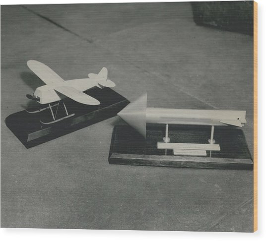 World�s First Guided Missile Control Gear Handed Over To Wood Print by Retro Images Archive