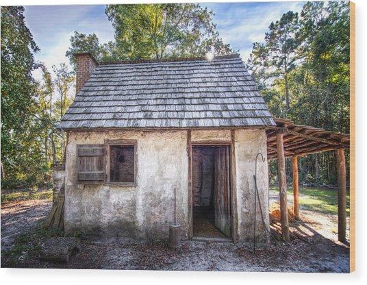 Wormsloe Cabin Wood Print