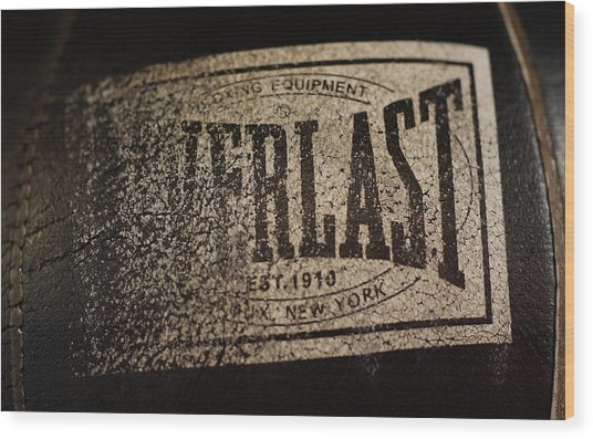 Worn Everlast Speed Bag Wood Print by Colleen Renshaw