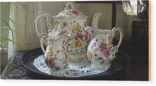 Would Anyone Like Any Tea Wood Print