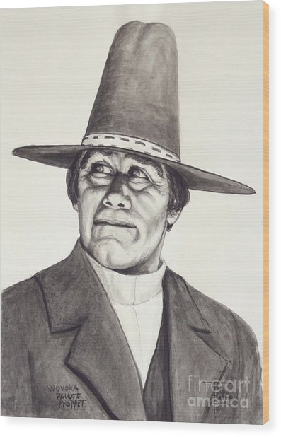 Wovoka - Paiute Prophet Wood Print
