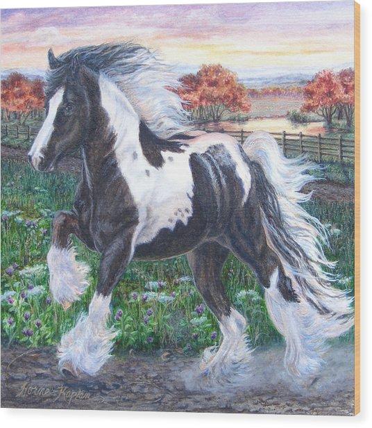 Wr Sundance Gypsy Horse Wood Print