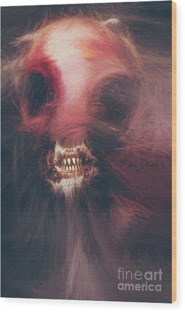 Wraith Of The Monstrous Minotaur Wood Print