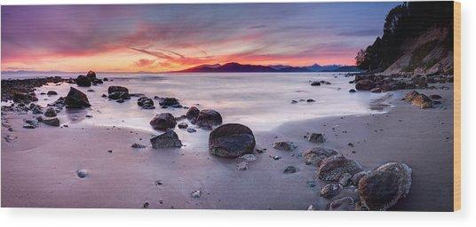 Wreck Beach Panorama Wood Print