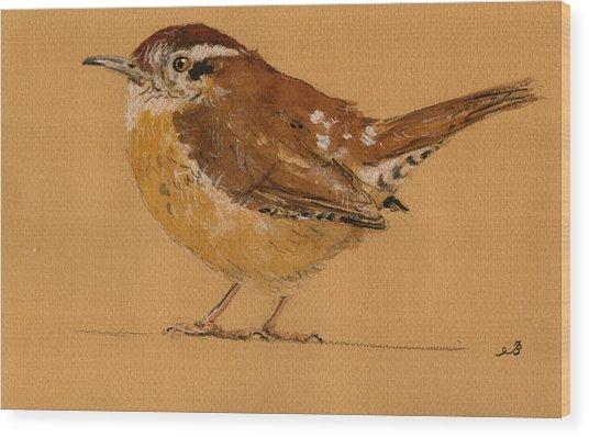 Wren Bird Wood Print