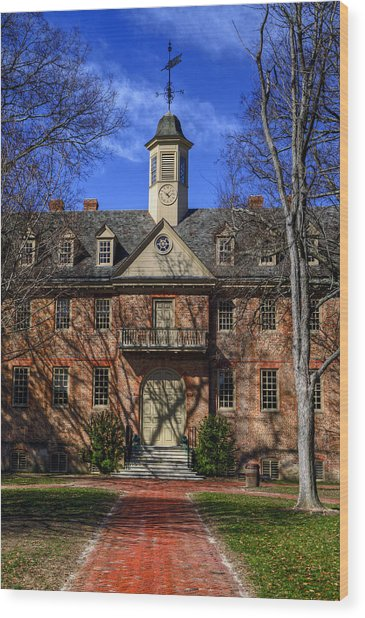 Wren Building Main Entrance Wood Print