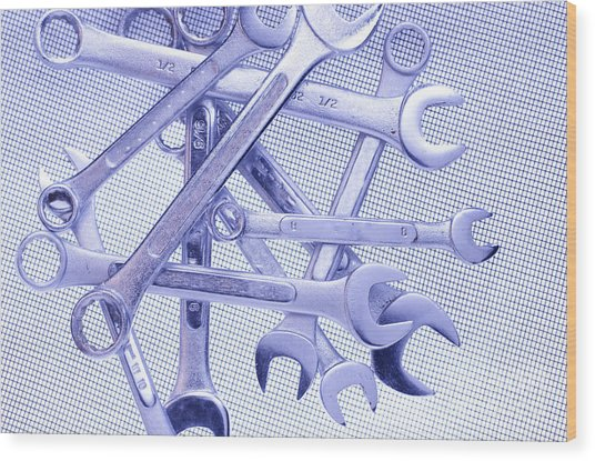 Wrenches Wood Print