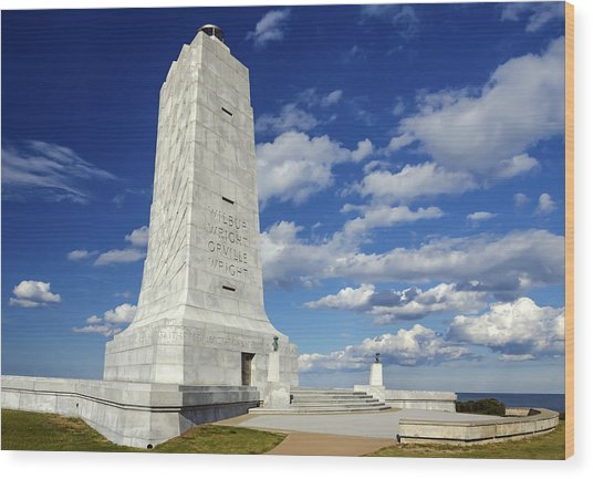 Wright Brothers Memorial D Wood Print