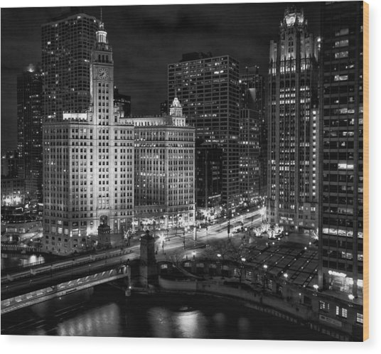 Wrigley Building In Chicago Wood Print