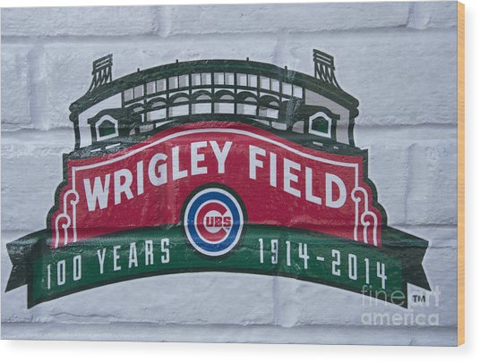 Wrigley Field At 100 Wood Print by David Bearden