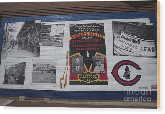 Wrigley Images - 1929 Wood Print by David Bearden