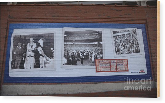 Wrigley Images - 1938 Wood Print by David Bearden