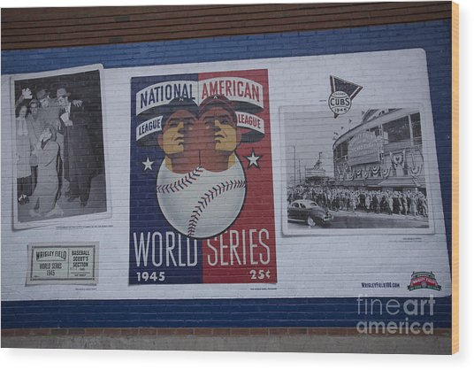Wrigley Images - 1945 Wood Print by David Bearden
