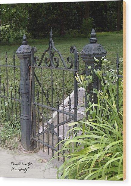 Wrought Iron Gate Wood Print