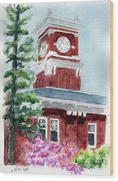 Wsu Clocktower Wood Print
