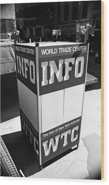 Wtc Info Sign Wood Print
