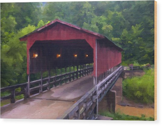 Wv Covered Bridge Wood Print