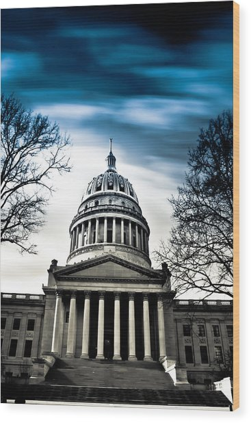 Wv State Capitol Building Wood Print