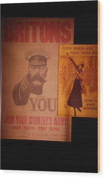 Ww1 Recruitment Posters Wood Print