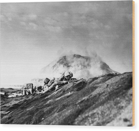 Wwii Iwo Jima Beachhead  Wood Print
