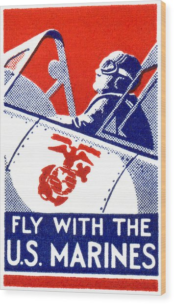 Wwii Marine Corps Aviation Wood Print