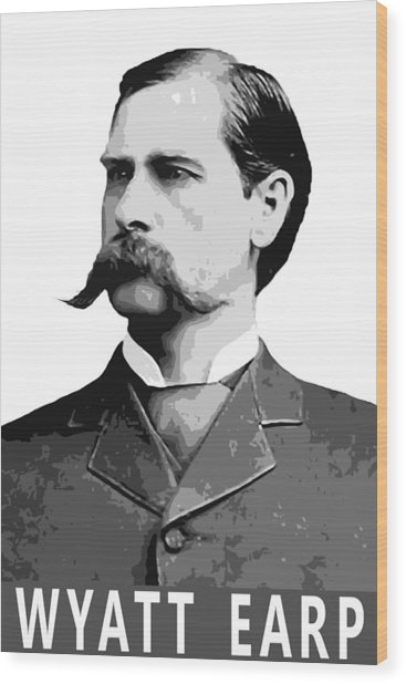 Wyatt Earp Legend Of The Old West Wood Print