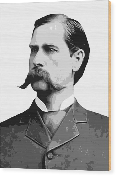 Wyatt Earp Old West Legend Wood Print