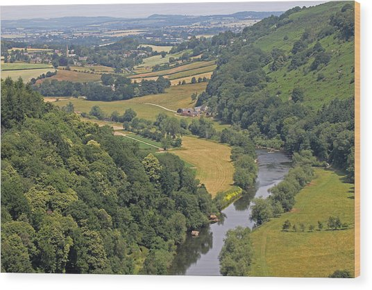 Wye Valley Wood Print