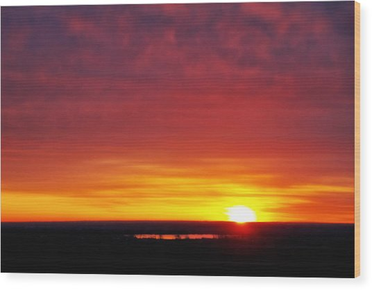 Wyoming Sunrise Wood Print