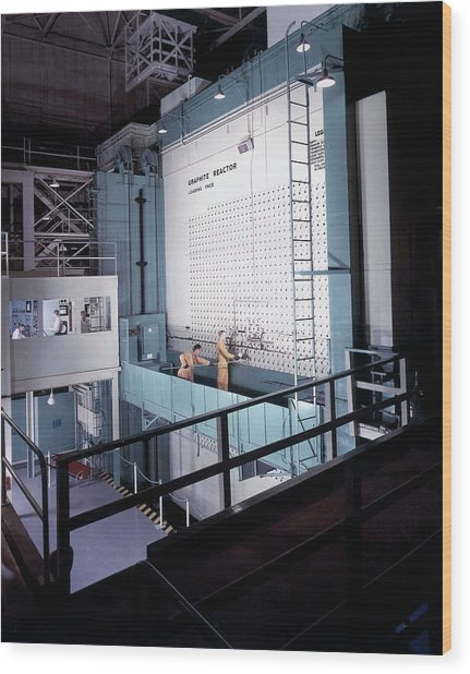 X-10 Graphite Reactor Wood Print by Us Department Of Energy
