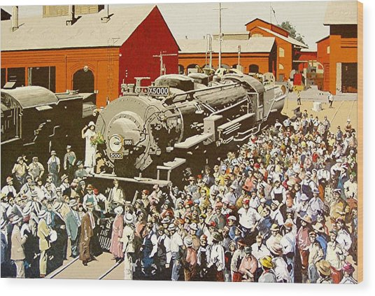 X5000 At The Sacramento Locomotive Works Wood Print by Paul Guyer