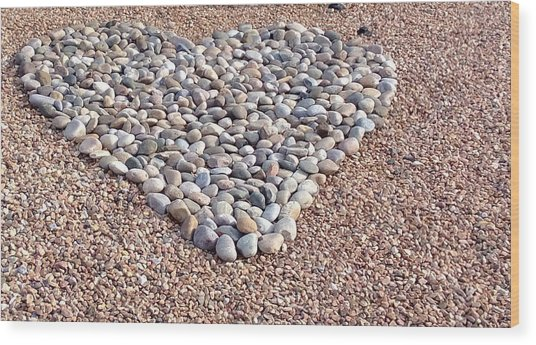 Xeriscape Heart Wood Print