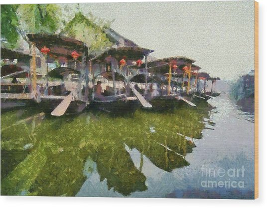 Xi Tang Town Wood Print