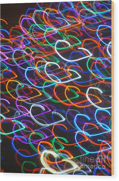 Xmas Heart Wood Print