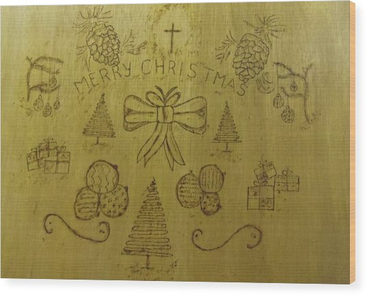 Xmas Wood Print by JJ Oosthuizen