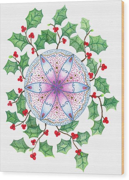 X'mas Wreath Wood Print